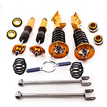 Coilovers and Rear Lower Camber Control Arms (Silver) for BMW 3 Series E36 318i 318is 318ic 323i 323ic 323is 325is 325ic 328i 328is 328ic M3 1992-1999