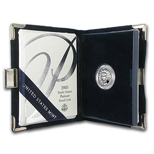 2003 W 1/10 oz Proof Platinum American Eagle (w/Box & COA) Piece About Uncirculated