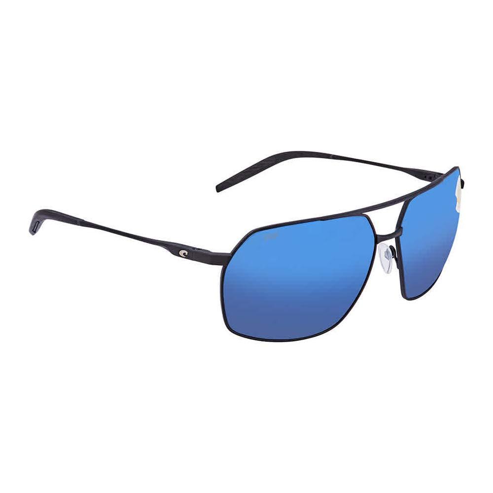 Costa Pilothouse Matte Black Titanium Frame Blue Lens Men's Sunglasses PLH11OBMP by Costa Del Mar