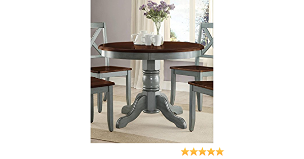 Amazon Com Better Homes And Gardens Cambridge Place Dining Table Blue Health Personal Care