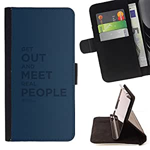 BullDog Case - FOR/Samsung Galaxy S3 Mini I8190Samsung Galaxy S3 Mini I8190 / - / real people quote relationship friendship /- Monedero de cuero de la PU Llevar cubierta de la caja con el ID Credit Card Slots Flip funda de cuer