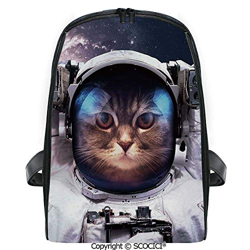 SCOCICI Casual Stylish Backpack Kitten in Galaxy Outer World with Stars Cosmology Cluster Zodiac Image 2019 Deals! One Size