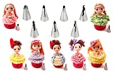 ruffle baking cups - New Ball Russian Stainless Steel Tips Tulip Sphere Whip Cream Buttercream Icing Piping Nozzles DIY Baking Tools Small Torch for Decoration Cupcake Fondant Cake or any Pastry (7 pcs dress ruffle tips)