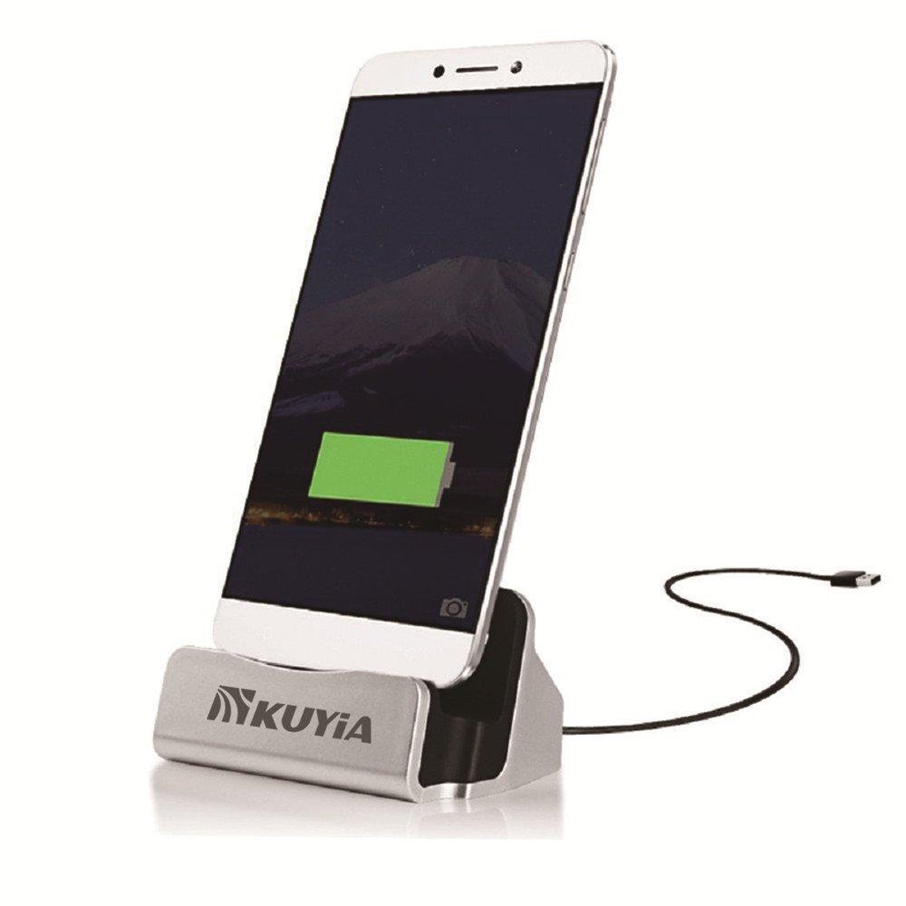 Soporte de escritorio Estaci/ón de carga USB 3.1 Tipo/C Base de carga y sincronizaci/ón para OnePlus Two 2//Xiaomi Mi4c MI5 M5//Meizu Pro 5 Kuyia