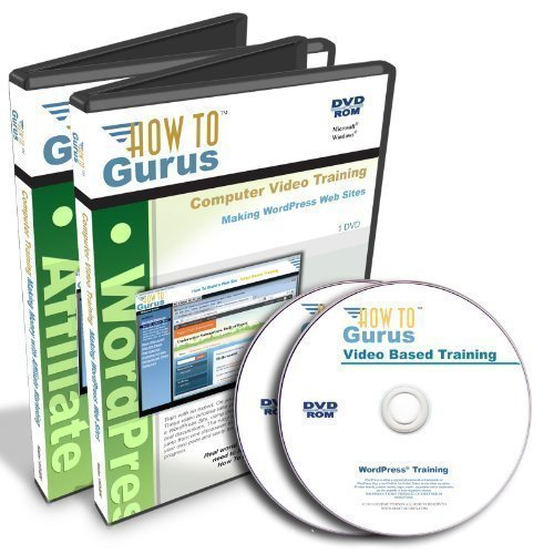 WordPress and Affiliate Marketing Tutorial Course on 2 DVDs Software Training by How To Gurus