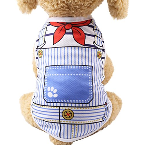 Funic Pet Dog Summer Vest Clothes Puppy Dog Cat Vest Shirt Printed T - Sample Foods Dog
