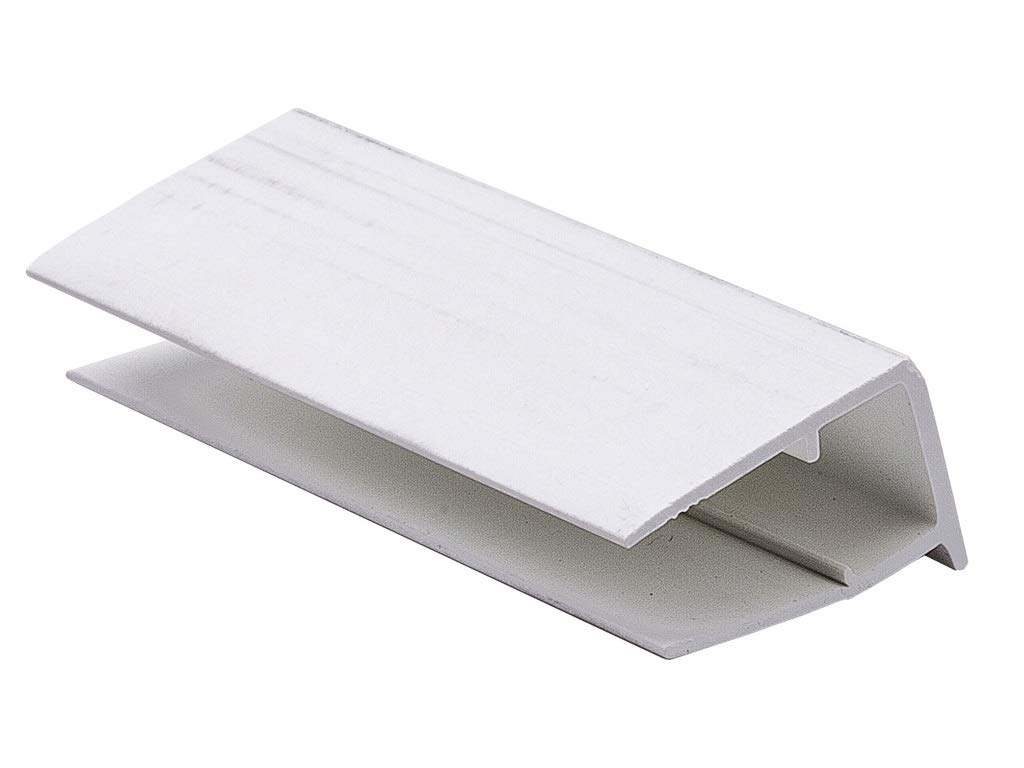 16mm 2.1m x 25mm, White 25mm Polycarbonate Sheets or Glass Units PVCu U Profile//End Closure for 10mm