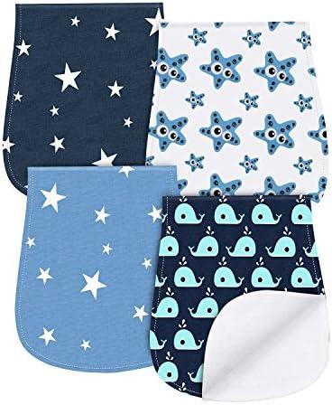 Paños Para Bebés, Burpy baberos de bebé, Paño Eructo 4 Unidades ...