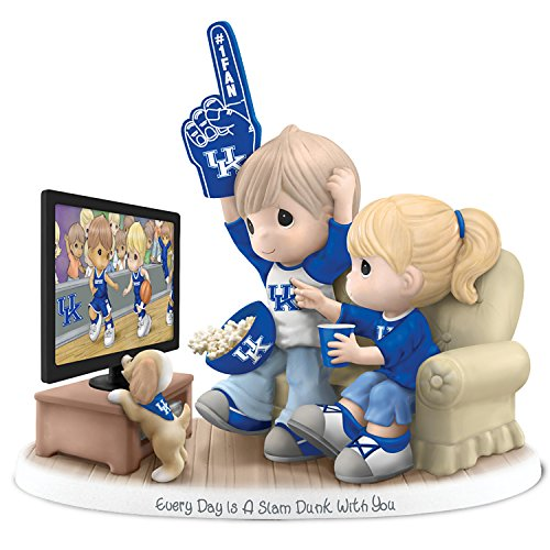 Figurine: Precious Moments Every Day Is A Slam Dunk With You Kentucky Wildcats Figurine by The Hamilton Collection