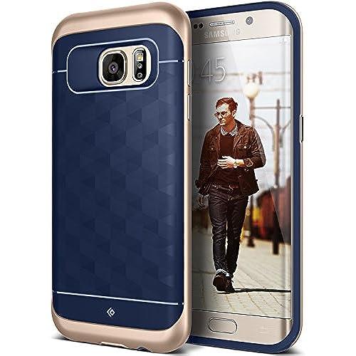 Galaxy S7 Edge Case, Caseology [Parallax Series] Modern Slim Geometric Design [Navy Blue] [Textured Grip] for Sales