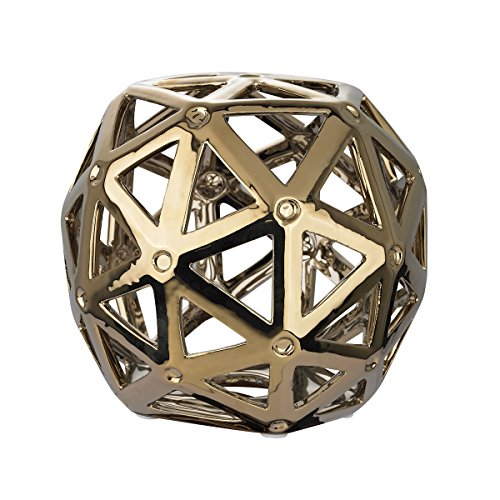 Dimond Home Ceramic Plant Stands 167-011 Dimond Home Perforated Multi-Hexagonal Stand 7 X 6 X 7 Inches Silver