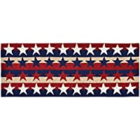 Area Rugs - Patriotic Stars Stripes Indoor Outdoor Rug - 24 x 60 Runner