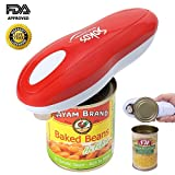 Electric Can Opener, Automatic Hands Free Can Openers Best Kitchen Gadgets for Seniors with Arthritis, Smooth Edge Easy Can Openers Electric (Red)