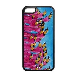 FEEL.Q- Unique Custom TPU Rubber iPhone 5C Case Cover - Flamingo