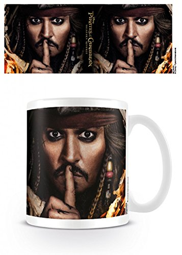 Set: The Pirates Of The Caribbean, Salazar's Revenge Photo Coffee Mug (4x3 inches) And 1x 1art1 Surprise Sticker
