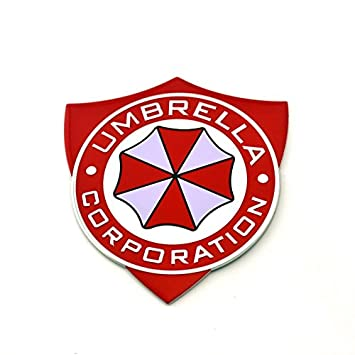Umbrella Corporation placa Resident Evil Metal Auto Adhesivo nadadores Decal