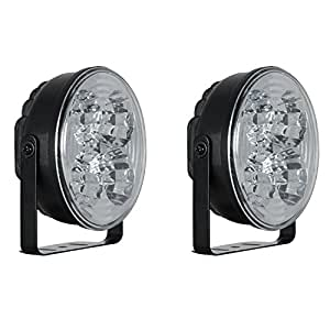 "Pilot Automotive NV-2038W 4"" Round 5-LED DRL Accent Light, (Set of 2)"