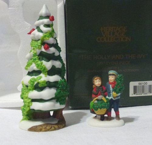 56 Heritage Village - Dept. 56 Heritage Village Collection-The Holly and the Ivy- 1997 Event Piece Figurine