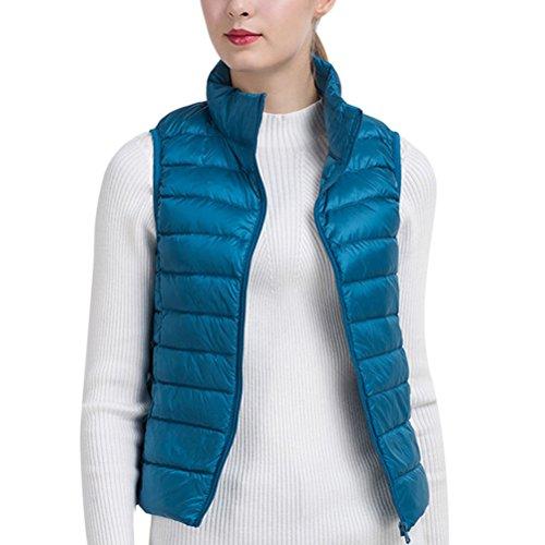 資格情報強制蛾Zhhlaixing 美しいジャケット Korean Fashion レディーズ Lightweight Stand Collar Thin Down Jacket Sleeveless Vest Short Style