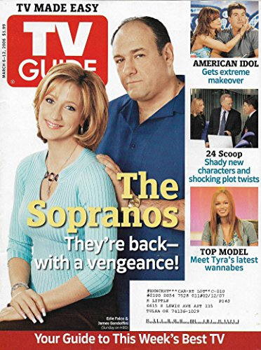 TV Guide Magazine - March 6-12, 2006 - Edie Falco & James Gandolfini (The Sopranos)