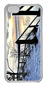 iPhone 5C Case, Personalized Custom Winter Scenes 6 for iPhone 5C PC Clear Case