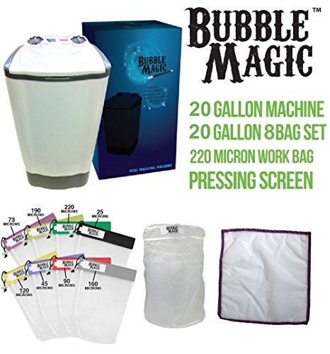 20 Gallon Bubble Magic Washing Machine + All Mesh Extraction 8 Bag Kit