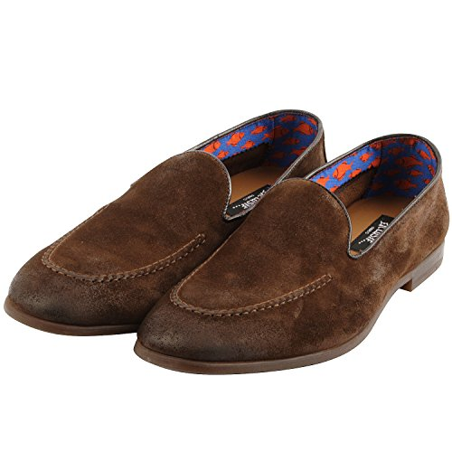 Exclusif Paris Bradley 43, Mocassins Cuir Marron Taille 43