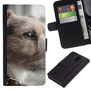 eJoy---La carpeta del tirón la caja de cuero de alta calidad de la PU Caso protector - Samsung Galaxy Note 4 IV - --Parson Russell Terrier Small Dog Shorthair