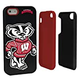 NCAA Wisconsin Badgers Hybrid Case for iPhone 5/5s, Black, One Size