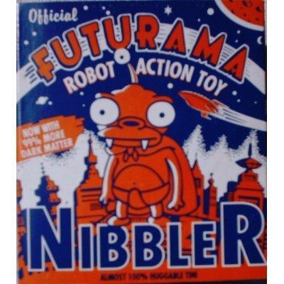 Futurama Nibbler Tin Wind-Up Robot Action Toy (2000) by Futurama