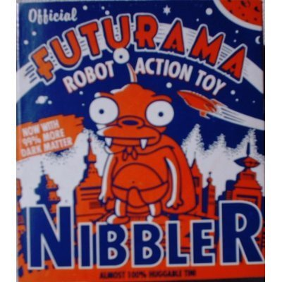 Wind Up Bender - Futurama Nibbler Tin Wind-Up Robot Action Toy (2000)