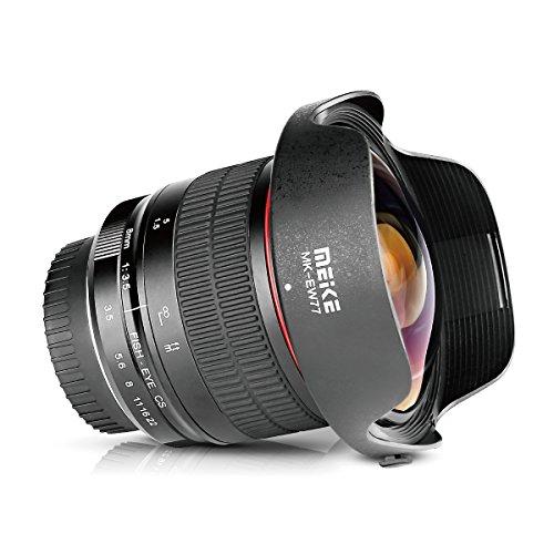 MEKE Meike 8mm f/3.5 Ultra Wide Angle Manual Focus Rectangle Fisheye Lens for APS-C DSLR Nikon D500 D3200 D3300 D3400 D5200 D5300 D5500 D5600 D7100 D7200 D7500 DSLR Cameras