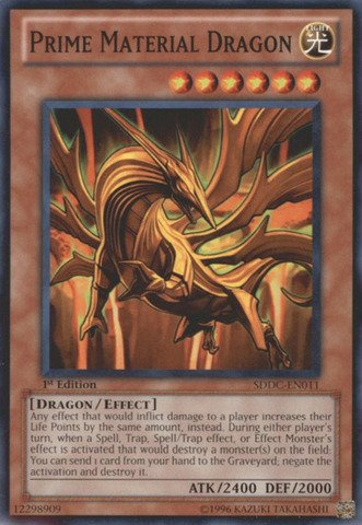 1st Trap Edition (Yu-Gi-Oh! - Prime Material Dragon (SDDC-EN011) - Structure Deck: Dragons Collide - 1st Edition - Common)