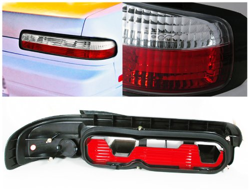 Spec-D Tuning LT-S13892RPW-TM Spec-D Altezza Tail Light Red Clear