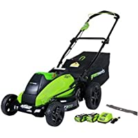 Greenworks Brushless Cordless Lawn Mower,Batteries Included