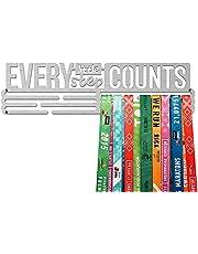 United Medals EVERY LITTLE STEP COUNTS, Sport Medaille Hanger Display | Geborsteld Roestvrij Staal houder medaillehanger (Max. 48 Medailles)