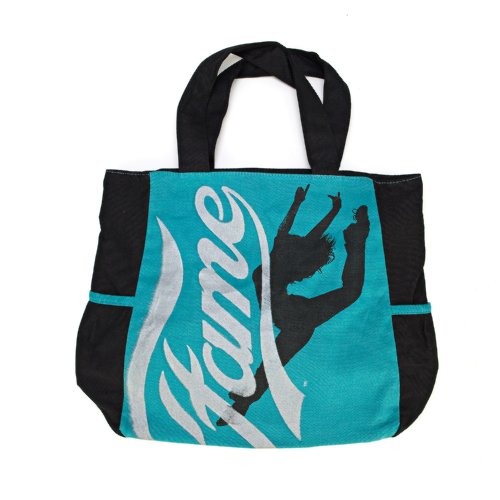 Fame Distressed Logo Silhouette Canvas Tote Bag