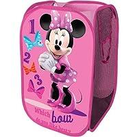 Disney Collapsible Storage Square Pop Hamper Laundry Bag (Minnie Mouse)