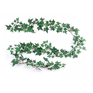 Larksilk English Ivy Garland Artificial Silk Greenry, 6ft 4