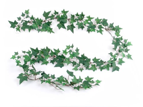 Larksilk 6' Common English Ivy Artificial Ivy Vine - Faux Ivy Garland with 185 Fake Ivy Leaves - Realistic Artificial Greenery Garland