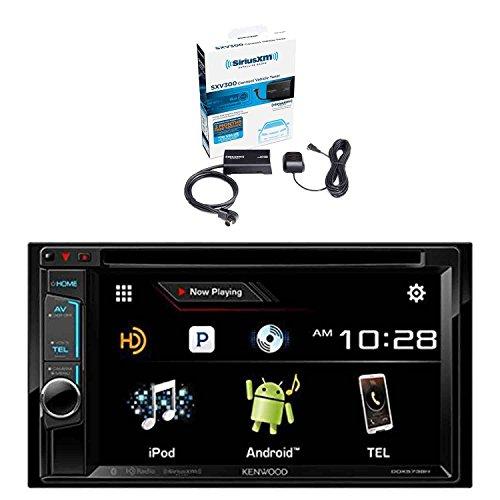 [Kenwood DDX574BH DVD Receiver and Sirius SXV300v1 Vehicle Satellite Radio Tuner] (Kenwood Sirius Satellite Tuner)