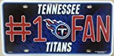Tennessee Titans #1 Fan NFL Embossed Metal Novelty License Plate Tag Sign 0310M