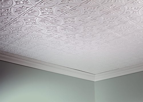Fasade Easy Installation Traditional 2 Matte White Glue Up Ceiling Tile / Ceiling Panel (2' x 4' Panel) by FASÄDE (Image #2)