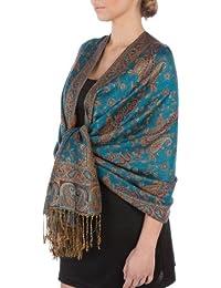 Sakkas Double Layer Jacquard Paisley Pashmina Shawl/Wrap/Stole