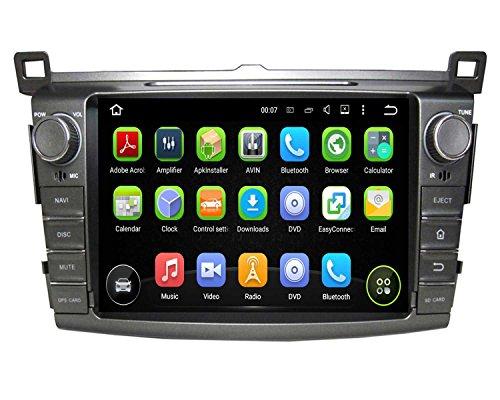 8 Inch 2 Din Android 5.1.1 Lollipop OS Car Radio Player for Toyota RAV4 2013 2014 2015 2016 ,Quad Core 1.6G Cortex A9 CPU 16G Flash 1G DDR3 RAM 1024x600 Touchscreen GPS DVD Aux Input OBD2
