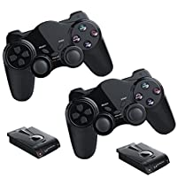 2x Funk Controller für PS2 Playstation 2 Dual Vibration, wireless Gamepad PS 2 kabellos
