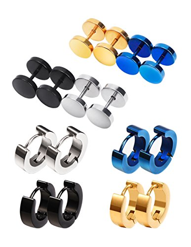 Mudder-Spirale-Stud-Ohrring-Hypoallergisch-Hoop-Piercing-8-Paare