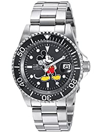Invicta Men's 'Disney Limited Edition' Automatic Stainless Steel Casual Watch, Color:Silver-Toned (Model: 24610)