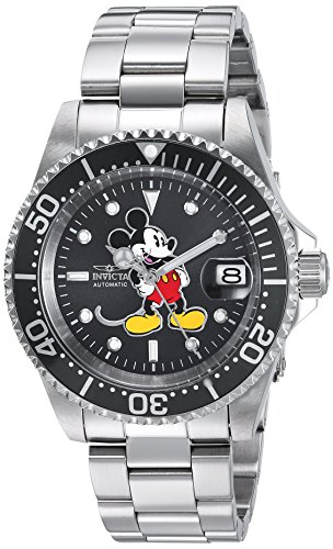 Invicta Men's 'Disney Limited Edition' Automatic Stainless Steel Casual Watch, Color:Silver-Toned (Model: ()