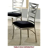 247SHOPATHOME Idf-3729SC Dining-Chairs, Silver